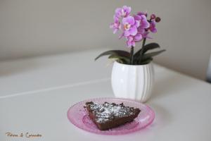 Tarte au chocolat {sans farine, sans oeuf et sans beurre}