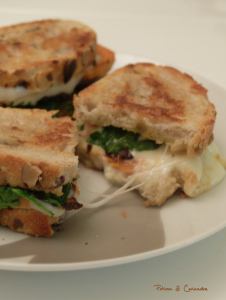 Grilled cheese – roquette et patate douce