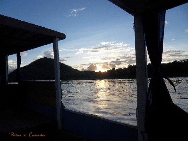 sunset on mekong