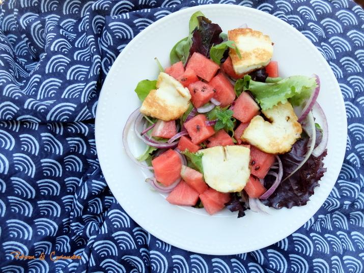 salade pastèque halloumi