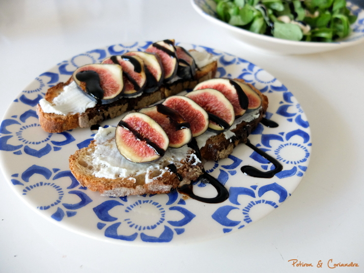 Tartines figues ricotta