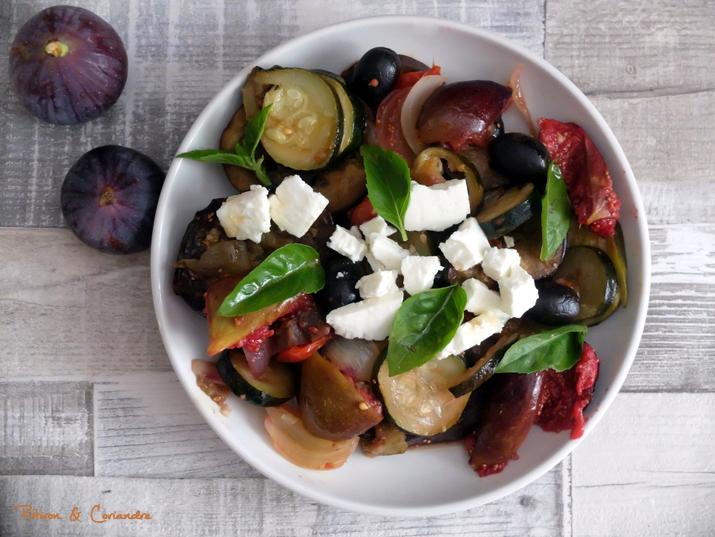 Salade légumes d'été et Figues