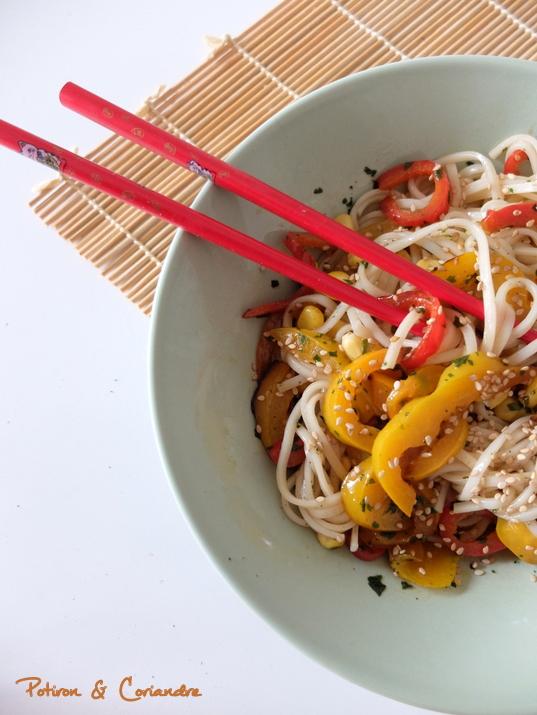 Salade Udon Poivrons (3)