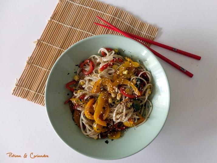 Salade Udon Poivrons