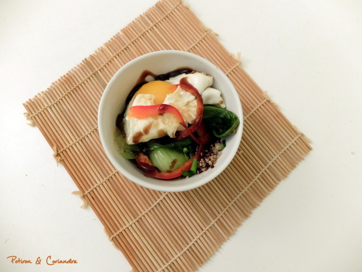 Salade aux oeufs frits