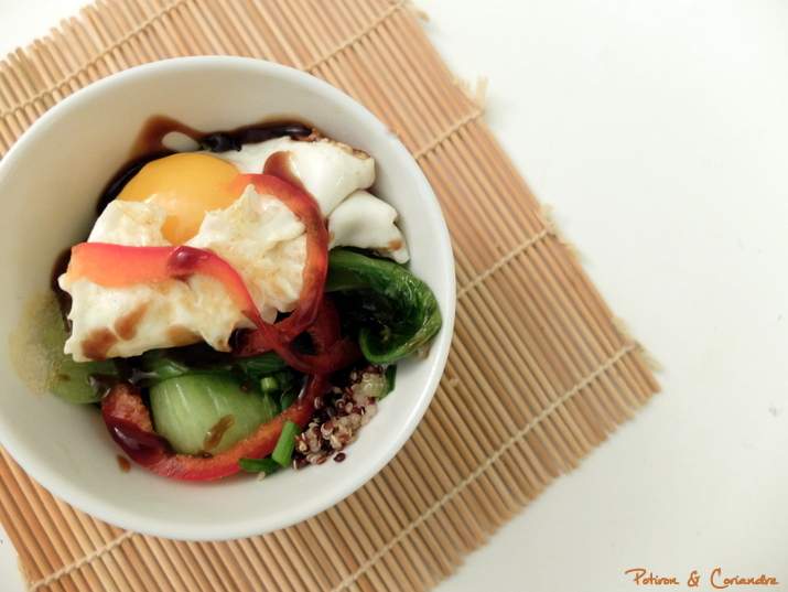 Salade aux oeufs frits2