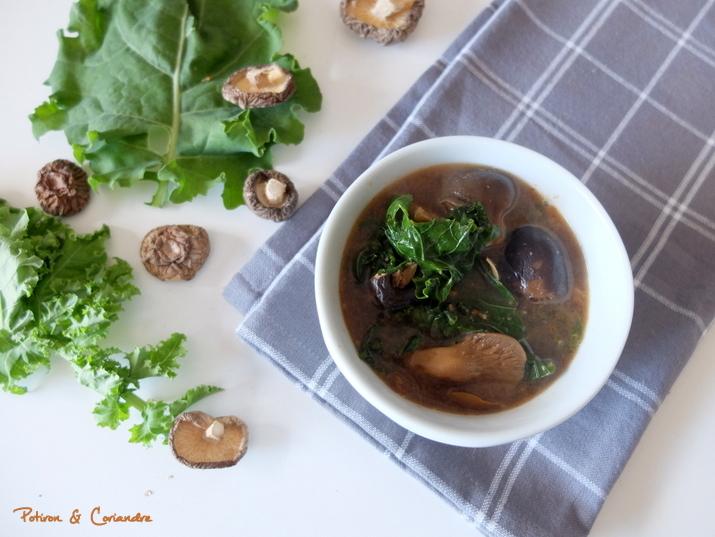 Soupe Champignon Kale