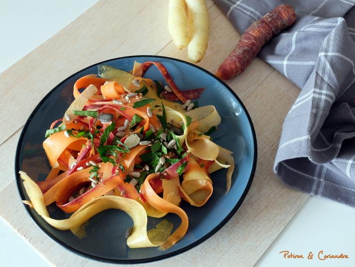 Salade carottes tricolores