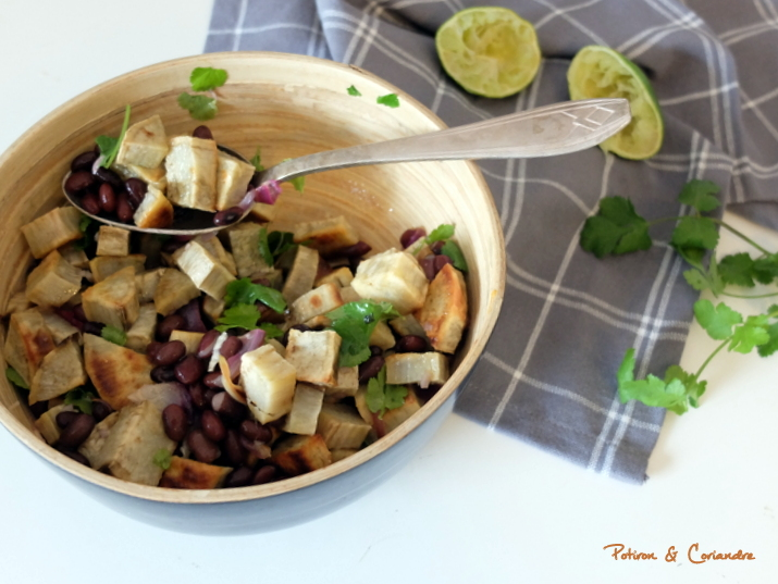 Salade patate douce haricots noirs (2)