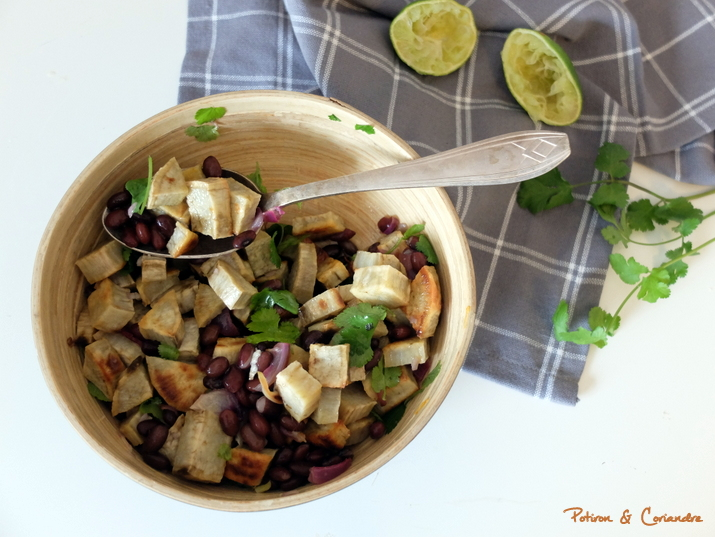 Salade patate douce haricots noirs (3)