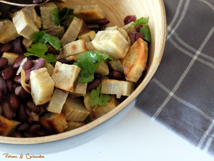 Salade patate douce haricots noirs