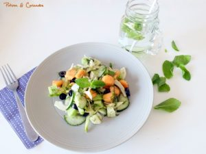 Salade concombre fenouil melon
