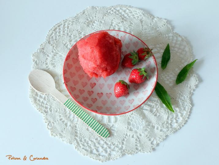 sorbet fraise verveine