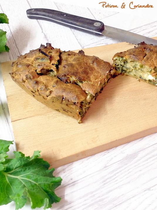Cake au kale et à la feta