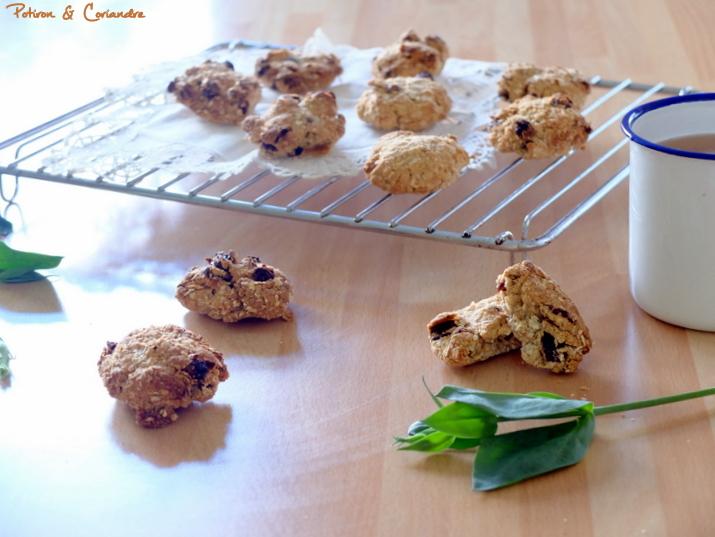 Biscuits sans gluten aux raisins secs et maca