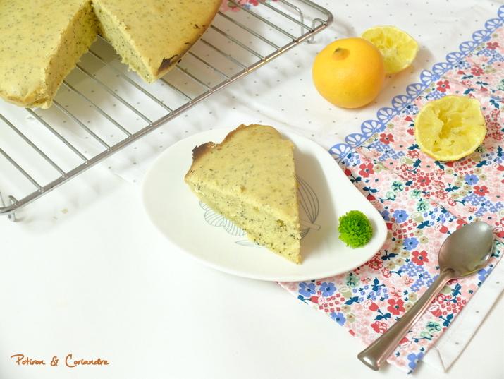 Gâteau au citron bergamote et graines de pavot
