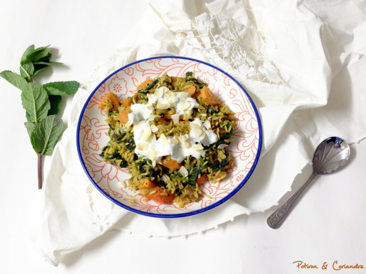 Biryani aux carottes et épinards