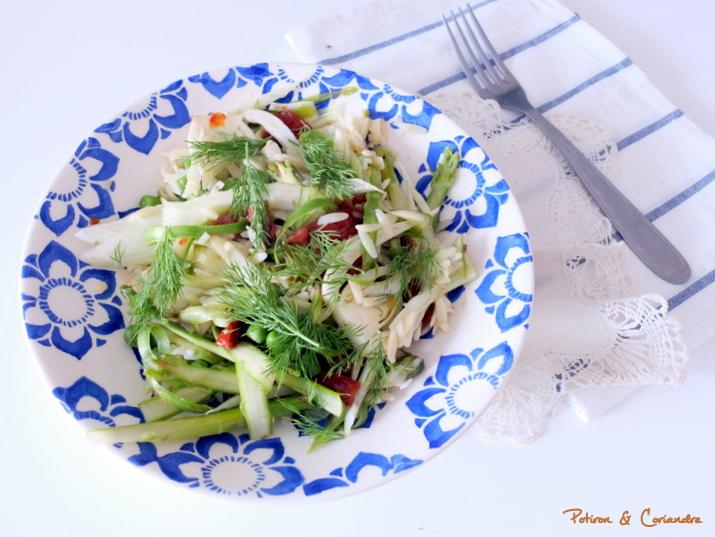 Salade aux asperges crues et fenouil