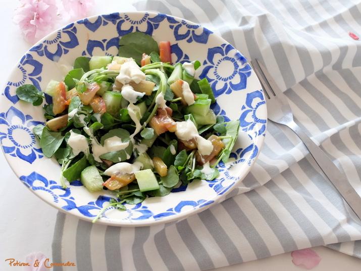Salade à la rhubarbe