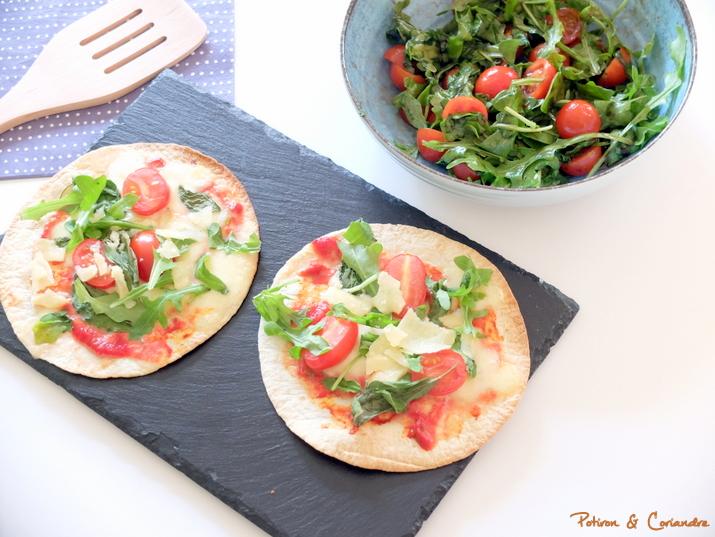 Tortizza et salade de roquette