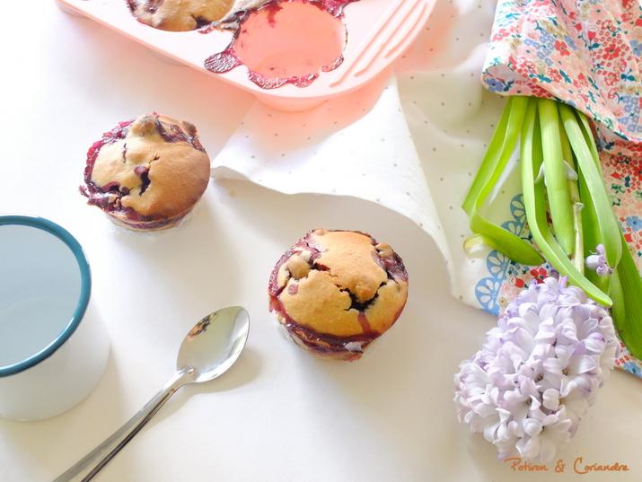 Muffins aux myrtilles [vegan]