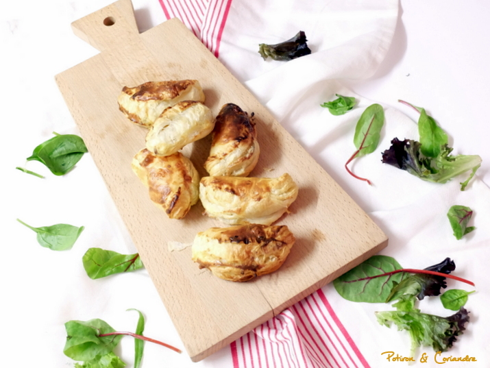 Petits chaussons aux girolles