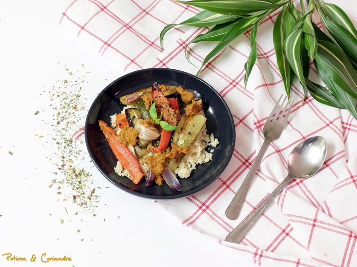 Légumes grillés et pesto de tomates séchées