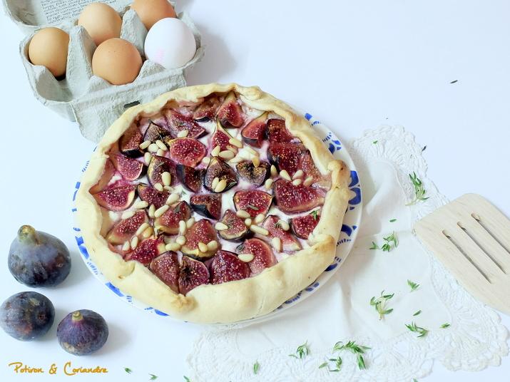 Galette aux figues et fromage de chèvre
