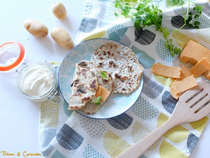 Lefse ou pain Norvégien à la pomme de terre