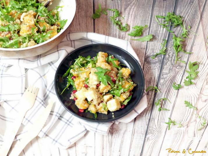 Salade de quinoa à l'halloumi et butternut