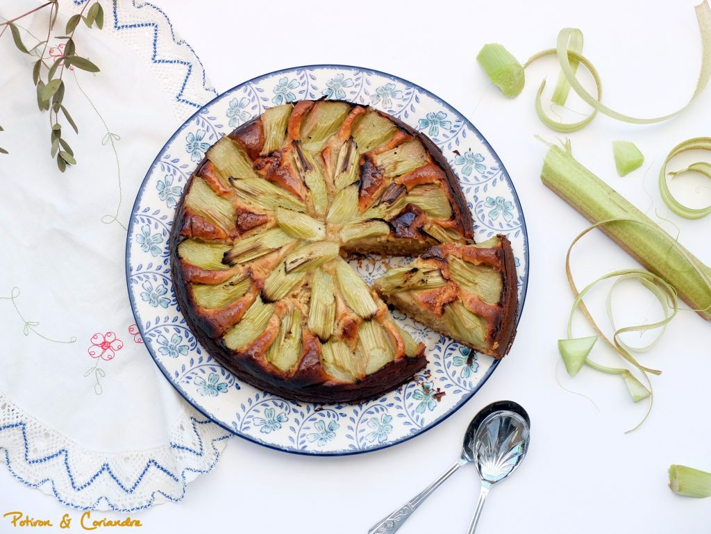 Gâteau rhubarbe & gingembre