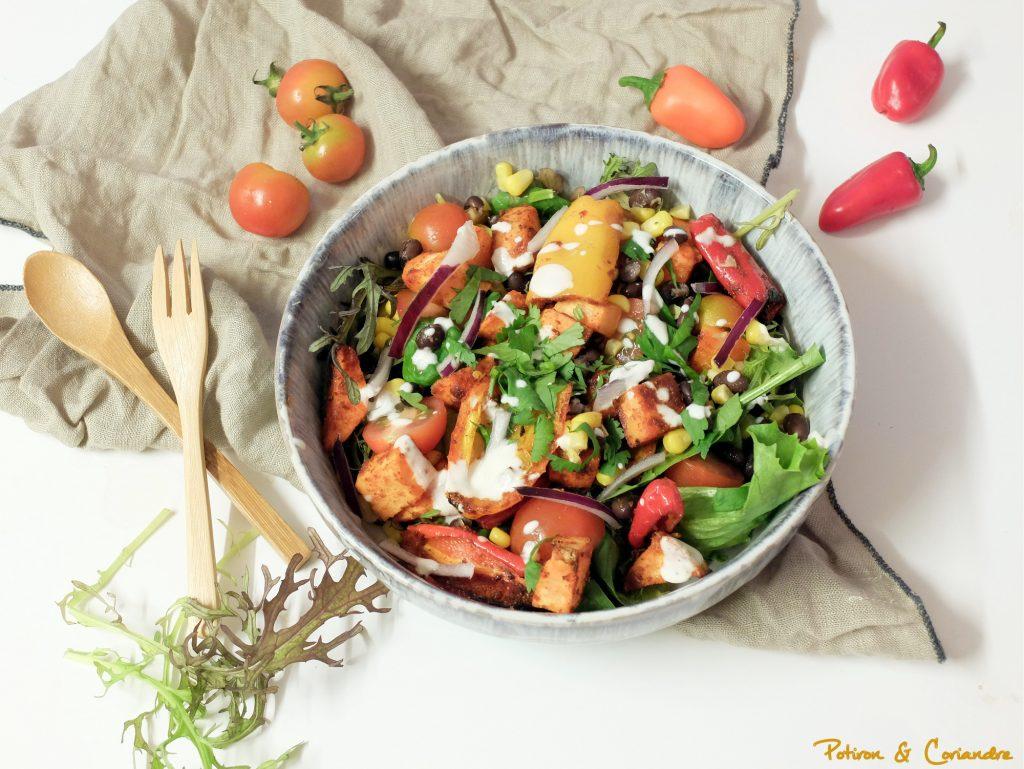 Salade de patate douce et maïs à la mexicaine