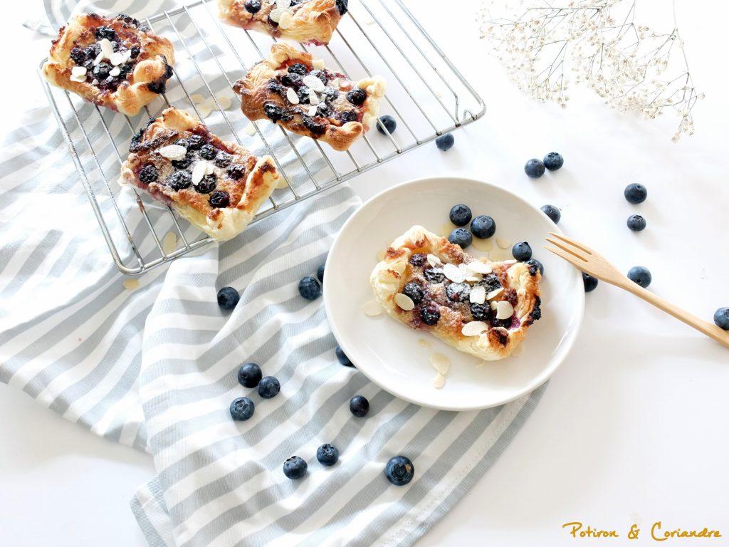 Tartelettes amande et myrtilles