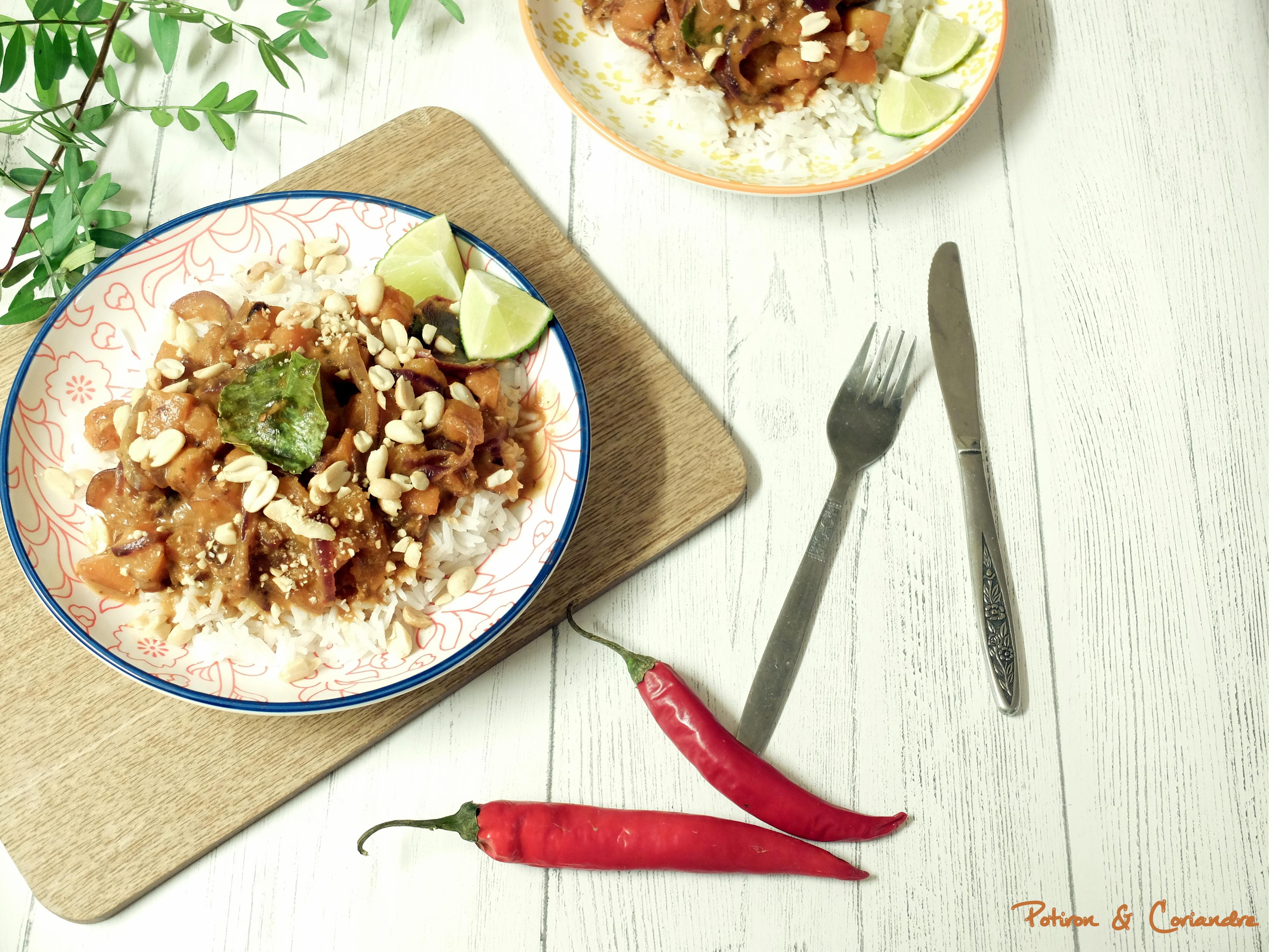 Curry Thaï à la courge butternut