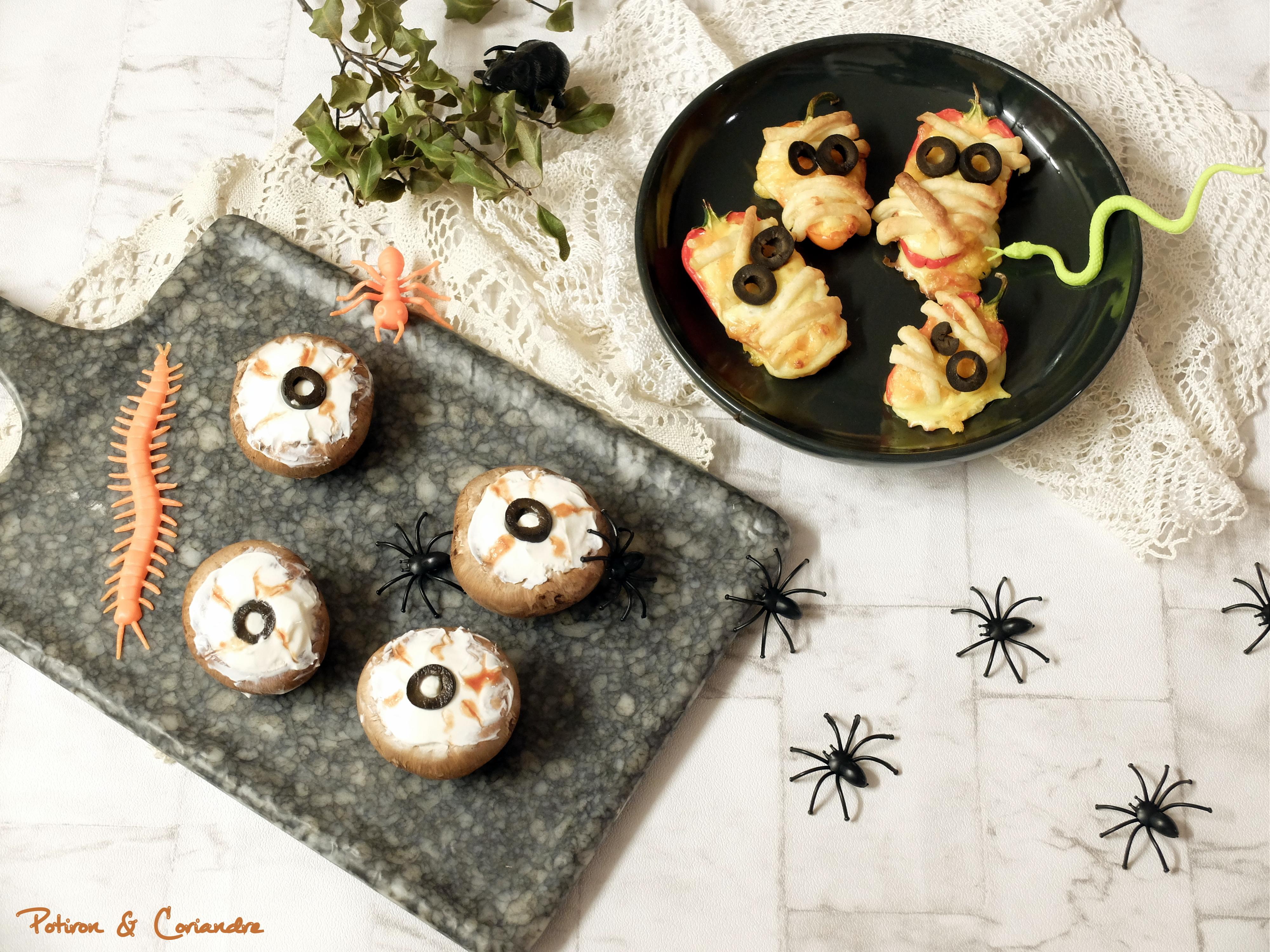 Poivron-momie et œil-champignon