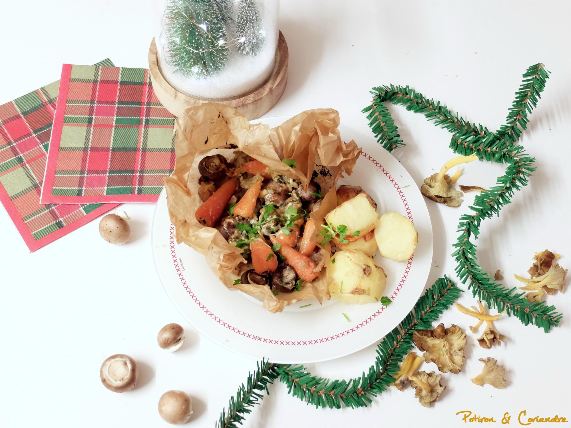 Champignons, carottes et marrons à la crème et au Marsala