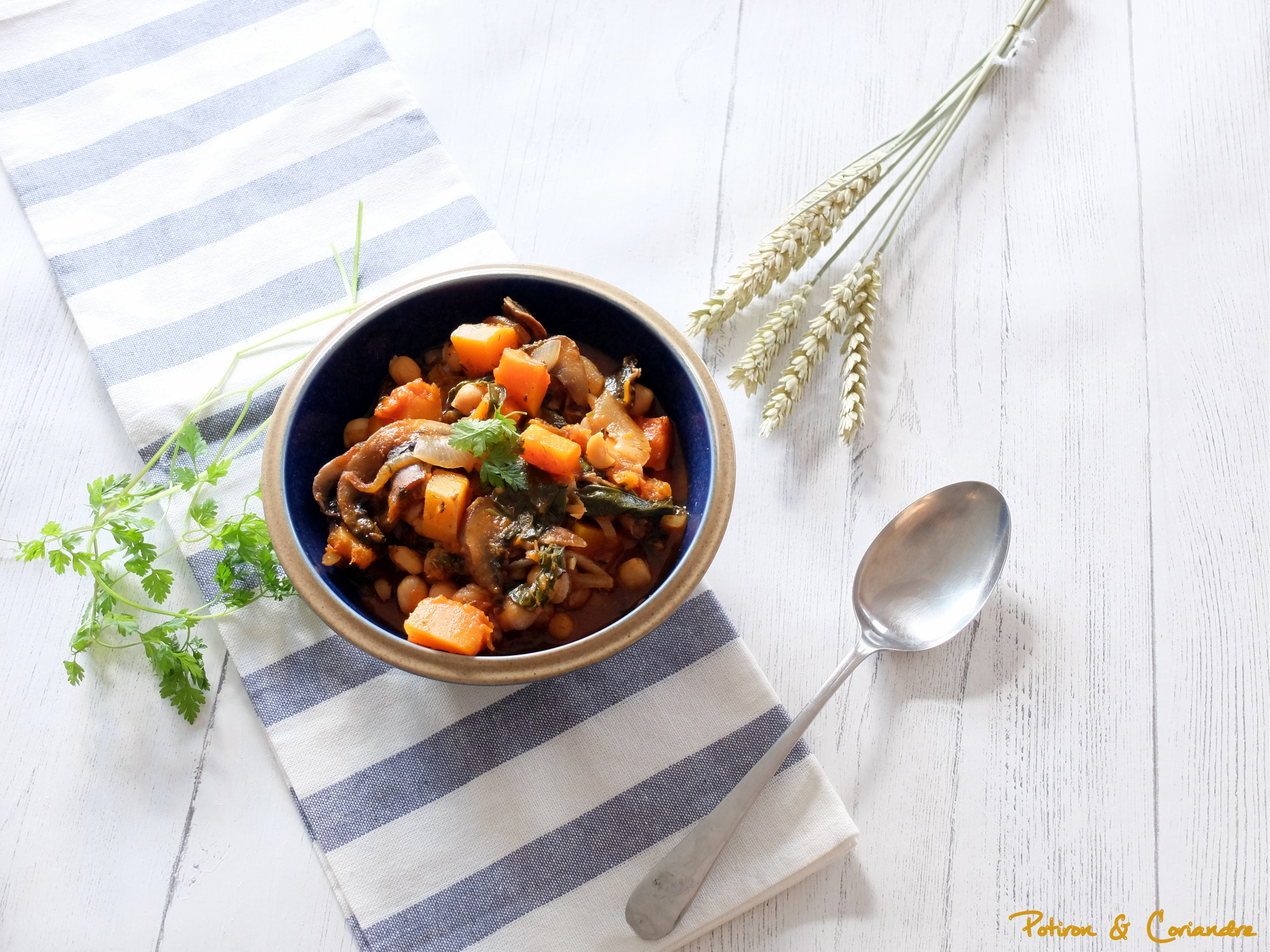 Goulash à la courge et champignons Portobello [vegan]
