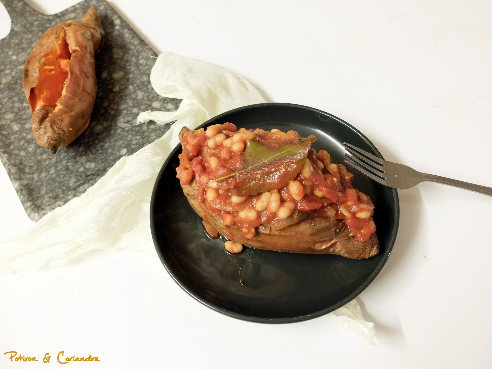 Patates douces farcies aux haricots coco [vegan]