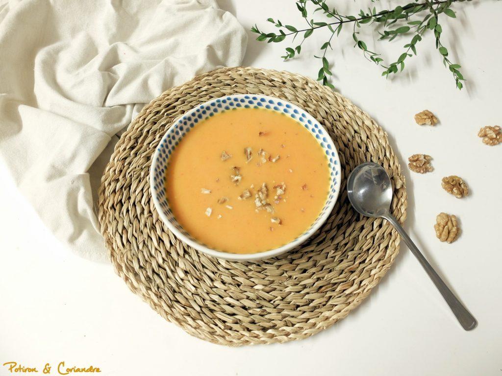 Soupe carottes, lentilles et boulghour