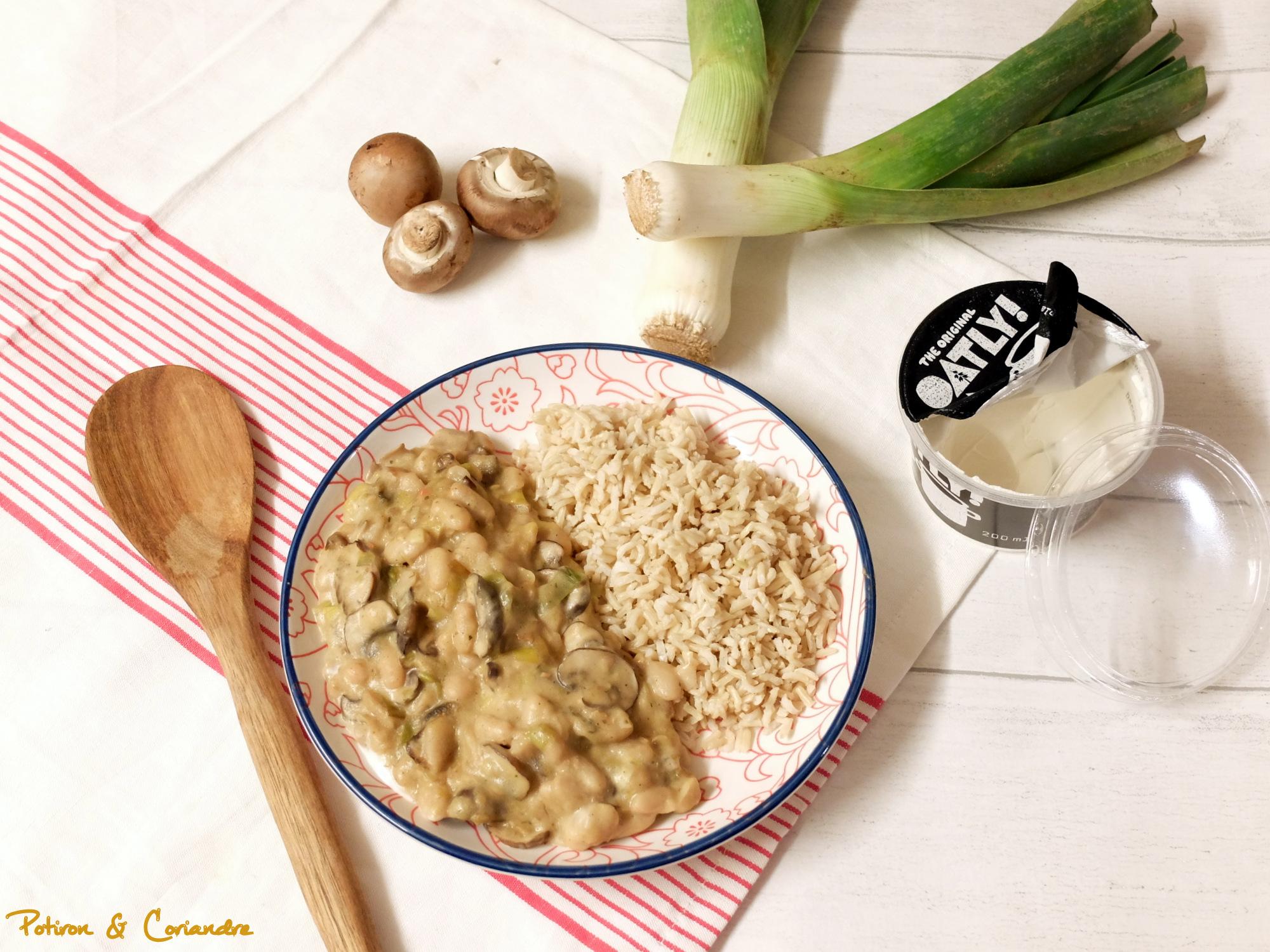 Stroganov aux poireaux et champignons [vegan]