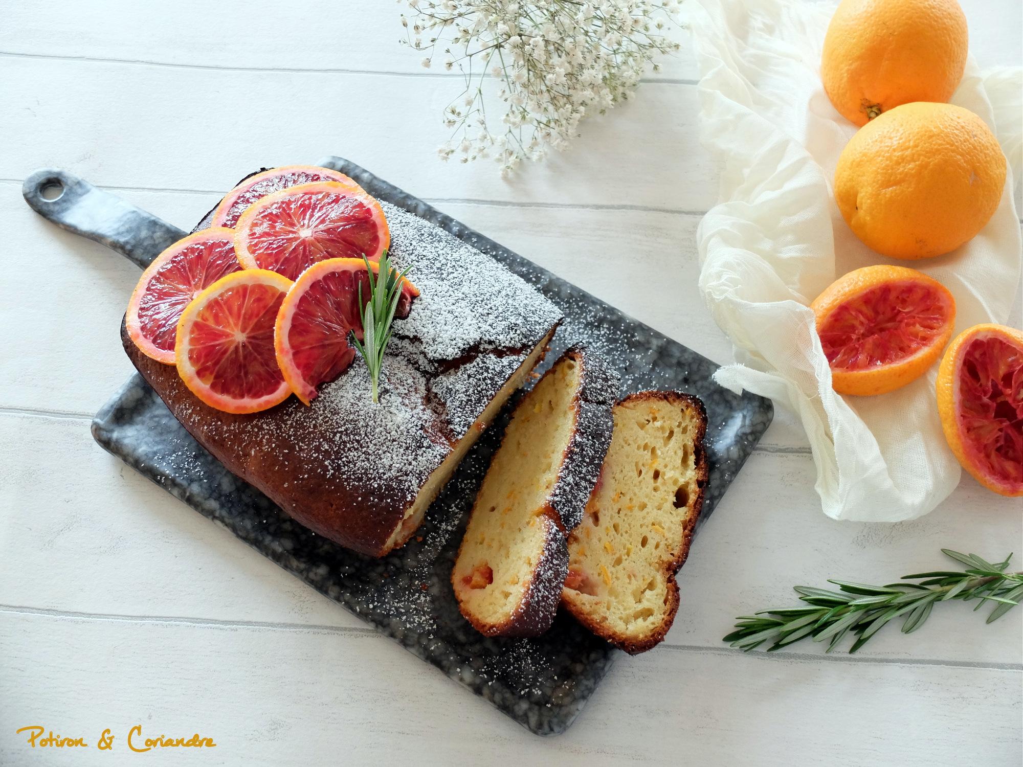 Cake orange sanguine et huile d'olive