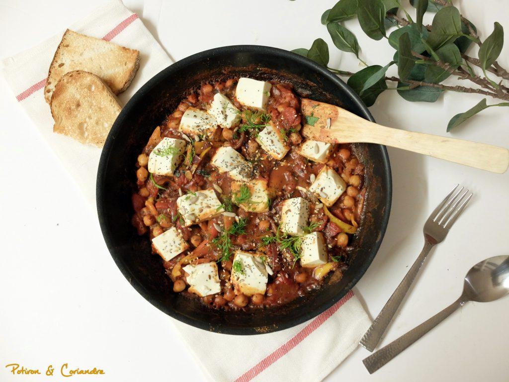 Shakshuka au tofu soyeux [vegan]