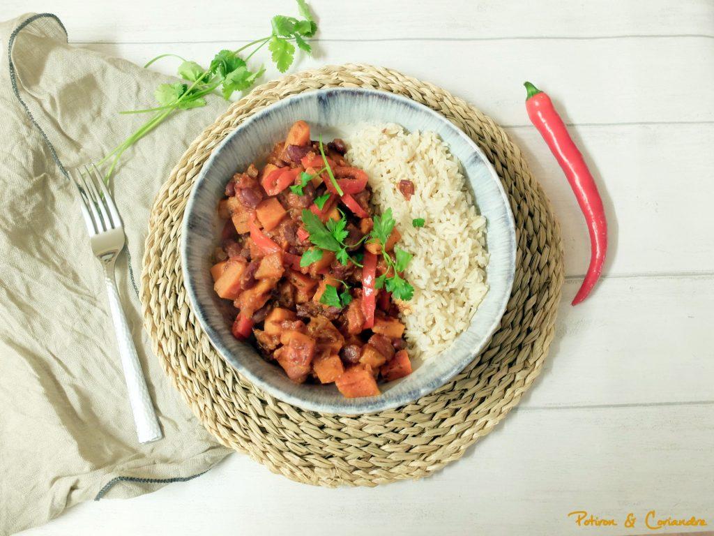 Patate douce et haricots rouge au paprika [vegan]