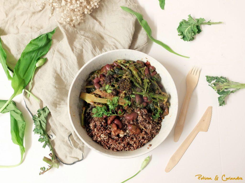 Jambalaya au brocoli et à l'ail des ours [vegan]