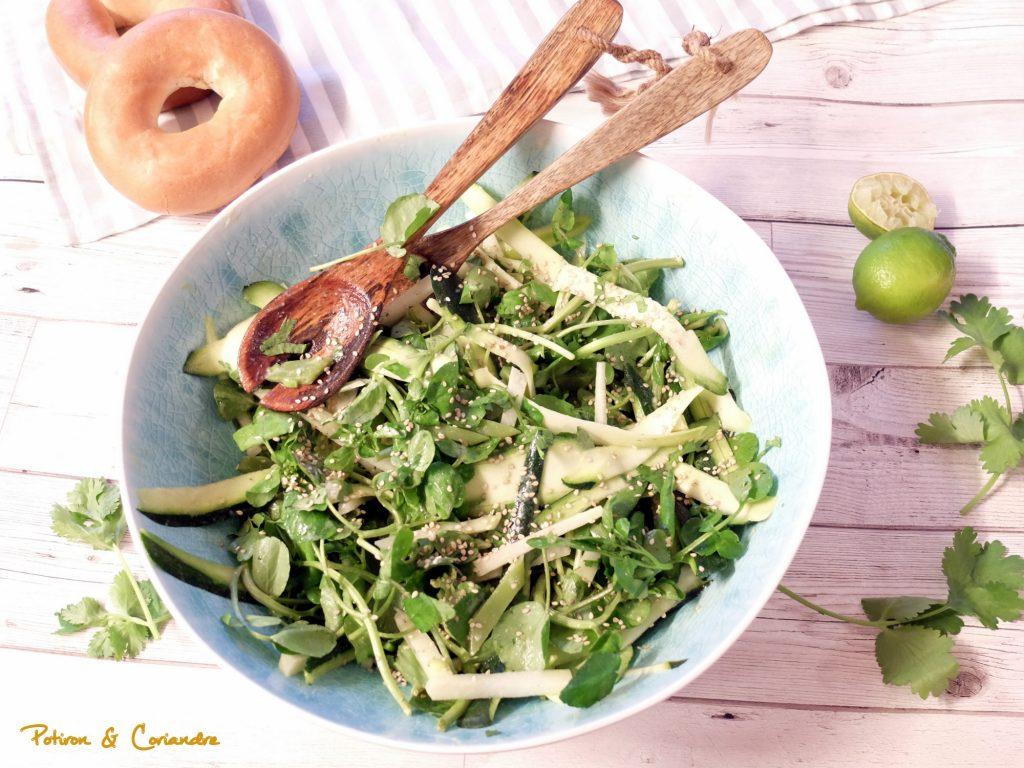 Salade chou rave, coco plats & courgettes [vegan]