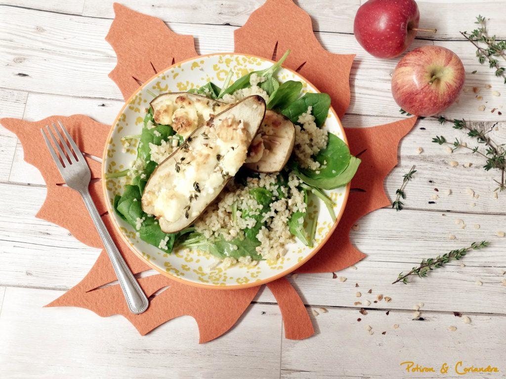 Salade aux poires rôties et boulghour
