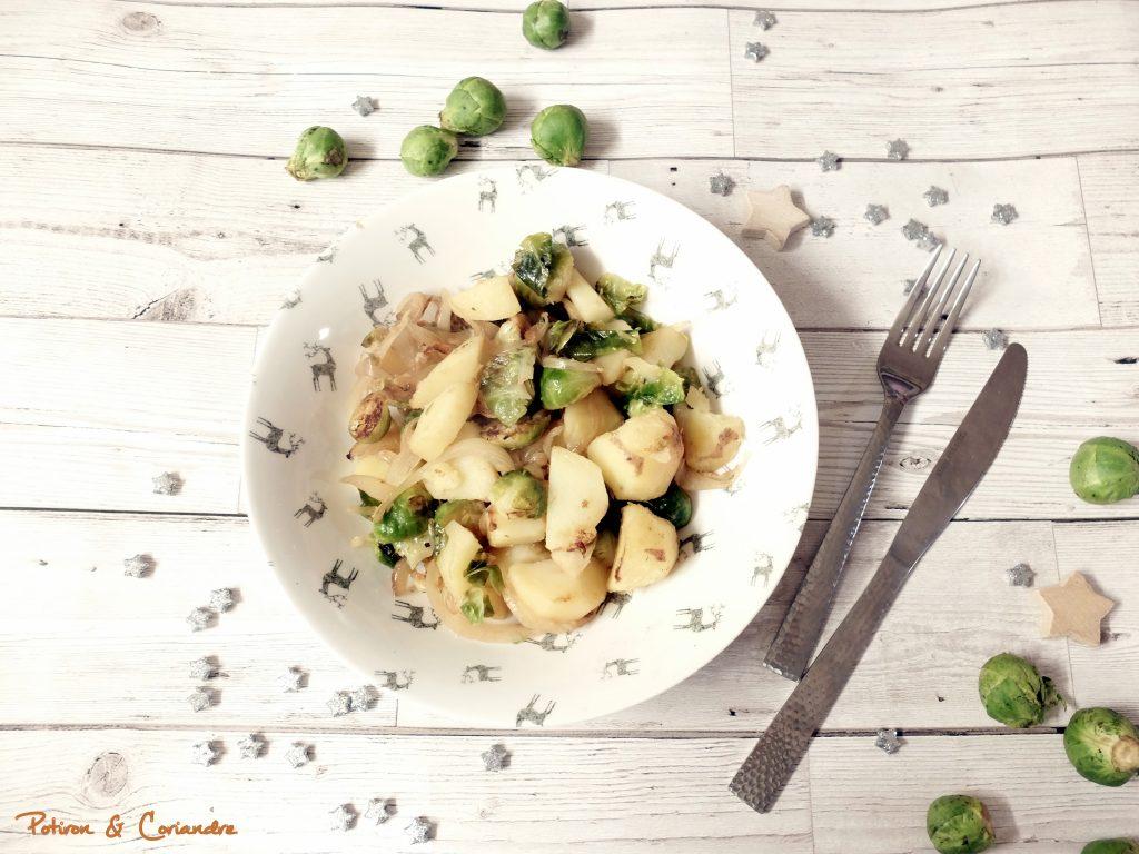 Choux de Bruxelles et pommes de terre [recette de Noël]