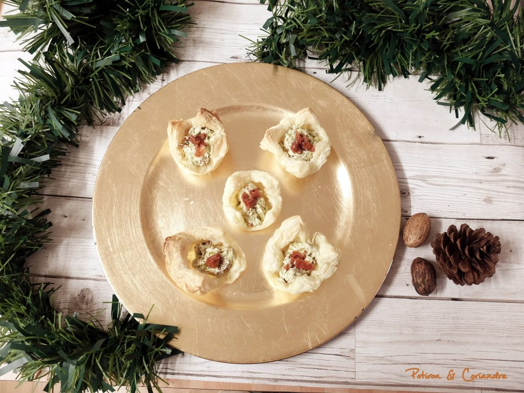 Bouchées apéritives au pesto et tomates séchées